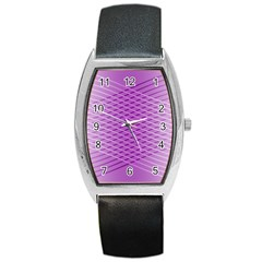 Abstract Lines Background Pattern Barrel Style Metal Watch