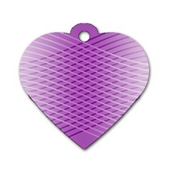 Abstract Lines Background Pattern Dog Tag Heart (two Sides) by Simbadda