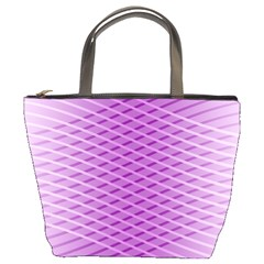 Abstract Lines Background Pattern Bucket Bags by Simbadda