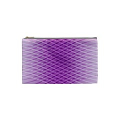 Abstract Lines Background Pattern Cosmetic Bag (small)  by Simbadda