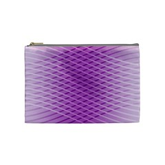 Abstract Lines Background Pattern Cosmetic Bag (medium)  by Simbadda