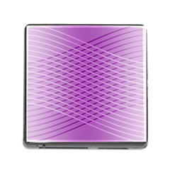 Abstract Lines Background Pattern Memory Card Reader (square) by Simbadda