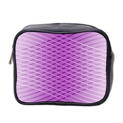 Abstract Lines Background Pattern Mini Toiletries Bag 2 Side by Simbadda