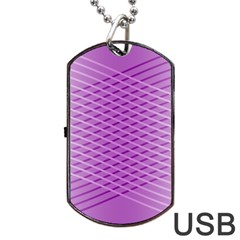 Abstract Lines Background Pattern Dog Tag Usb Flash (one Side) by Simbadda