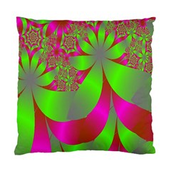 Green And Pink Fractal Standard Cushion Case (one Side) by Simbadda