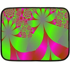 Green And Pink Fractal Fleece Blanket (mini) by Simbadda