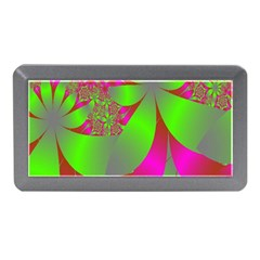 Green And Pink Fractal Memory Card Reader (mini) by Simbadda