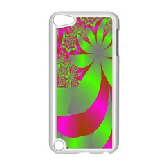 Green And Pink Fractal Apple Ipod Touch 5 Case (white) by Simbadda