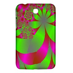 Green And Pink Fractal Samsung Galaxy Tab 3 (7 ) P3200 Hardshell Case  by Simbadda