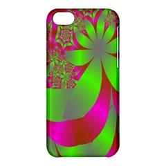 Green And Pink Fractal Apple Iphone 5c Hardshell Case by Simbadda