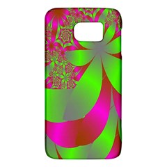 Green And Pink Fractal Galaxy S6