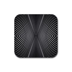 Abstract Of Shutter Lines Rubber Coaster (square)  by Simbadda