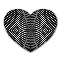 Abstract Of Shutter Lines Heart Mousepads