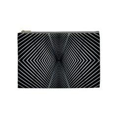 Abstract Of Shutter Lines Cosmetic Bag (medium)  by Simbadda