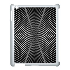 Abstract Of Shutter Lines Apple Ipad 3/4 Case (white) by Simbadda