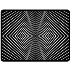 Abstract Of Shutter Lines Double Sided Fleece Blanket (large)  by Simbadda