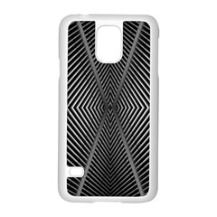 Abstract Of Shutter Lines Samsung Galaxy S5 Case (white) by Simbadda