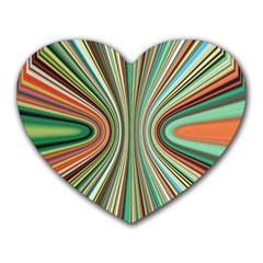 Colorful Spheric Background Heart Mousepads by Simbadda