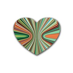 Colorful Spheric Background Heart Coaster (4 Pack)  by Simbadda