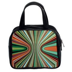 Colorful Spheric Background Classic Handbags (2 Sides) by Simbadda