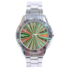 Colorful Spheric Background Stainless Steel Analogue Watch by Simbadda
