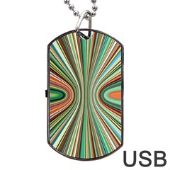 Colorful Spheric Background Dog Tag Usb Flash (one Side) by Simbadda