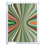 Colorful Spheric Background Apple iPad 2 Case (White) Front
