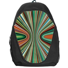 Colorful Spheric Background Backpack Bag by Simbadda
