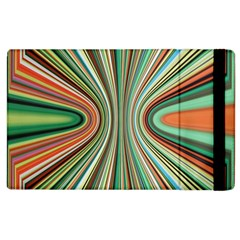 Colorful Spheric Background Apple Ipad 2 Flip Case by Simbadda