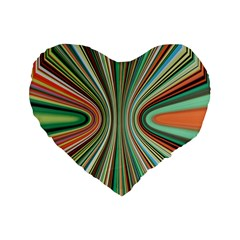 Colorful Spheric Background Standard 16  Premium Heart Shape Cushions by Simbadda