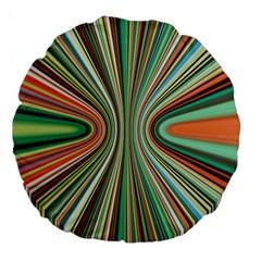 Colorful Spheric Background Large 18  Premium Flano Round Cushions by Simbadda