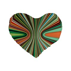 Colorful Spheric Background Standard 16  Premium Flano Heart Shape Cushions by Simbadda