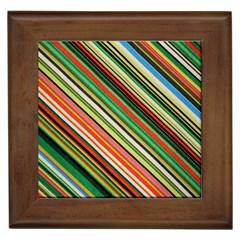 Colorful Stripe Background Framed Tiles by Simbadda
