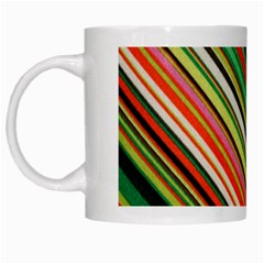 Colorful Stripe Background White Mugs by Simbadda