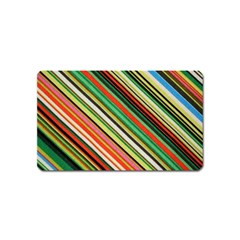 Colorful Stripe Background Magnet (name Card) by Simbadda