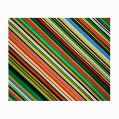 Colorful Stripe Background Small Glasses Cloth by Simbadda