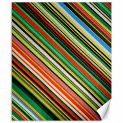 Colorful Stripe Background Canvas 8  X 10  by Simbadda