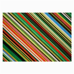 Colorful Stripe Background Large Glasses Cloth by Simbadda