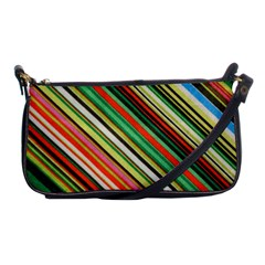 Colorful Stripe Background Shoulder Clutch Bags by Simbadda