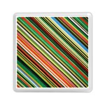 Colorful Stripe Background Memory Card Reader (Square)  Front
