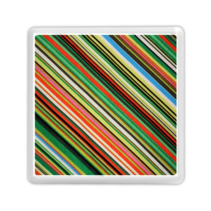 Colorful Stripe Background Memory Card Reader (Square)