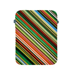Colorful Stripe Background Apple Ipad 2/3/4 Protective Soft Cases by Simbadda