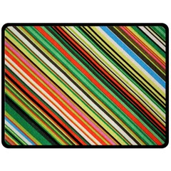 Colorful Stripe Background Double Sided Fleece Blanket (large)  by Simbadda