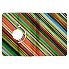 Colorful Stripe Background Kindle Fire Hdx Flip 360 Case by Simbadda