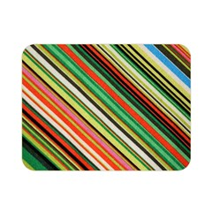 Colorful Stripe Background Double Sided Flano Blanket (mini)  by Simbadda