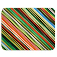 Colorful Stripe Background Double Sided Flano Blanket (medium)  by Simbadda