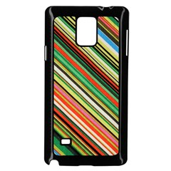 Colorful Stripe Background Samsung Galaxy Note 4 Case (black) by Simbadda
