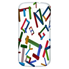Colorful Letters From Wood Ice Cream Stick Isolated On White Background Samsung Galaxy S3 S Iii Classic Hardshell Back Case by Simbadda