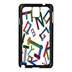 Colorful Letters From Wood Ice Cream Stick Isolated On White Background Samsung Galaxy Note 3 N9005 Case (black) by Simbadda