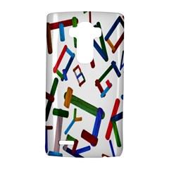 Colorful Letters From Wood Ice Cream Stick Isolated On White Background Lg G4 Hardshell Case by Simbadda